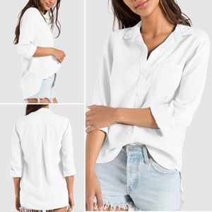 Bella Dahl shirt tail white button down tencel